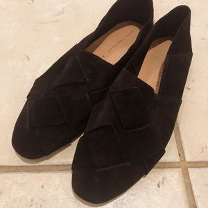 Zara braised leather loafers